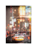 Instants of NY Series - Urban Scene with Yellow Taxi Photographic Print by Philippe Hugonnard
