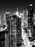 View of Skyscrapers of Times Square and 42nd Street at Night Photographic Print by Philippe Hugonnard