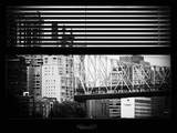 Window View with Venetian Blinds: Ed Koch Queensboro Bridge View - Architecture and Buildings Photographic Print by Philippe Hugonnard