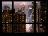 Times Square and 42nd Street by Night - Manhattan, New York, USA Photographic Print by Philippe Hugonnard