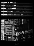 Window View with Venetian Blinds: Street View - Old Wall Commecial Advertisements with Fire Escape Photographic Print by Philippe Hugonnard