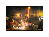 Instants of NY Series - Street Scenes and Urban Night Landscape in Winter under the Snow Photographic Print by Philippe Hugonnard