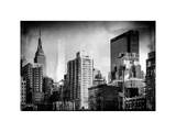 Instants of NY Series - Cityscape with the Empire State Building and the New Yorker Hotel Photographic Print by Philippe Hugonnard