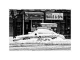 NYC Yellow Cab Buried in Snow Photographic Print by Philippe Hugonnard
