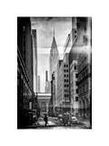 Instants of NY BW Series - Urban Scene in Winter at Grand Central Terminal in New York City Photographic Print by Philippe Hugonnard