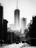 Urban Street Scene with the One World Trade Center (1WTC) in Winter Photographic Print by Philippe Hugonnard