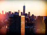 Instants of NY Series - NYC Cityscape with the One World Trade Center (1WTC) at Sunset Photographic Print by Philippe Hugonnard