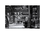 The NBC Studios in the New York City in the Snow at Night Photographic Print by Philippe Hugonnard