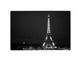 Cityscape Paris with Eiffel Tower at Night Photographic Print by Philippe Hugonnard