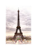 Eiffel Tower, Paris, France - White Frame and Full Format Photographic Print by Philippe Hugonnard