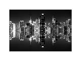 Double Sided and Instants of NY Series - Skyscrapers of Times Square in Manhattan Night Photographic Print by Philippe Hugonnard