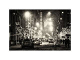 Street Scenes and Urban Night Landscape in Winter under the Snow Photographic Print by Philippe Hugonnard