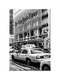 Yellow Taxis Manhattan Winter Photographic Print by Philippe Hugonnard
