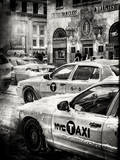 Urban Scene with Yellow Taxis Photographic Print by Philippe Hugonnard