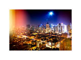 Instants of NY Series - Landscape by Night of Manhattan Photographic Print by Philippe Hugonnard