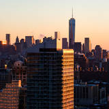 NYC Cityscape with the One World Trade Center (1WTC) at Sunset Photographie par Philippe Hugonnard