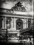 Instants of NY BW Series - Urban Scene View in Winter Photographic Print by Philippe Hugonnard