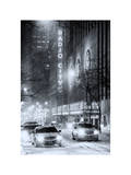 Street Scenes by Night in Winter under the Snow Photographic Print by Philippe Hugonnard