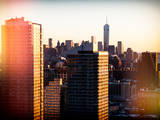 Instants of NY Series - NYC Skyline at Sunset with the One World Trade Center (1WTC) Photographic Print by Philippe Hugonnard
