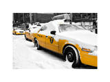 NYC Yellow Cab in the Snow Photographic Print by Philippe Hugonnard