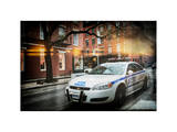 Instants of NY Series - Police Car Photographic Print by Philippe Hugonnard