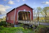 USA, Oregon, Scio, Shimanek Bridge. Digital Composite. Photographic Print by Rick A. Brown