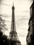 Eiffel Tower, Paris, France - Sepia - Tone Vintage Photography Photographic Print by Philippe Hugonnard