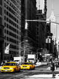 Urban Scene with the Empire State Building in Winter Photographic Print by Philippe Hugonnard
