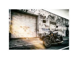 Instants of NY Series - Motorcycle Garage in Brooklyn Photographic Print by Philippe Hugonnard