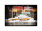 Instants of NY Series - NYC Yellow Cab Buried in Snow Photographic Print by Philippe Hugonnard