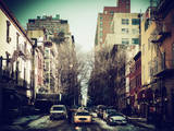 Urban Street Scene of Manhattan in Winter Photographic Print by Philippe Hugonnard
