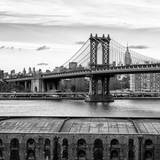 Manhattan Bridge with the Empire State Building from Brooklyn Photographic Print by Philippe Hugonnard