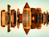 Double Sided Series - Skyscrapers of Times Square in Manhattan at Sunset Photographic Print by Philippe Hugonnard