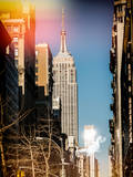 Instants of NY Series - Empire State Building View Photographic Print by Philippe Hugonnard