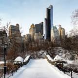 Snowy Gapstow Bridge of Central Park, Manhattan in New York City Photographic Print by Philippe Hugonnard