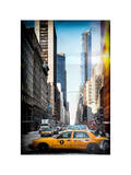 Instants of NY Series - Urban Scene with Yellow Taxis Photographic Print by Philippe Hugonnard