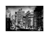 Instants of NY Series - Cityscape Snowy Winter in West Village with Yellow Taxi Photographic Print by Philippe Hugonnard