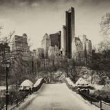 Snowy Gapstow Bridge of Central Park, Manhattan in New York City Reproduction photographique par Philippe Hugonnard