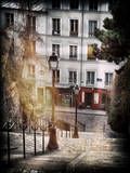 Instants of Series - Steps to Montmartre - Paris, France Photographic Print by Philippe Hugonnard