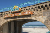 USA, Florida, Daytona Beach, Welcome sign to Main Street Pier. Photographic Print by Lisa S. Engelbrecht