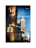 Instants of NY Series - Empire State Building View in Winter Photographic Print by Philippe Hugonnard