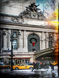 Instants of NY Series - Urban Scene View in Winter Photographic Print by Philippe Hugonnard