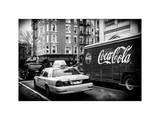 Urban View with Yellow Taxi on Manhattan Photographic Print by Philippe Hugonnard