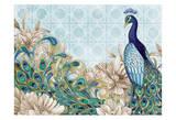 Peacock Splendor 1 Poster by Nicole Tamarin