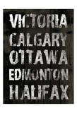 Canada Grunge Type Prints by Jace Grey