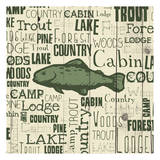 Country Trout Poster by Jace Grey