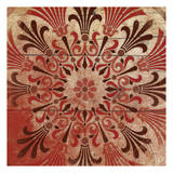 Red Pattern 3 Print by Jace Grey