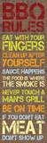 BBQ Rules Brick Kunstdrucke von Lauren Gibbons