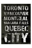 Canada Grunge Type Print by Jace Grey