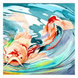Koi Pond 1 Poster by Anne Ormsby